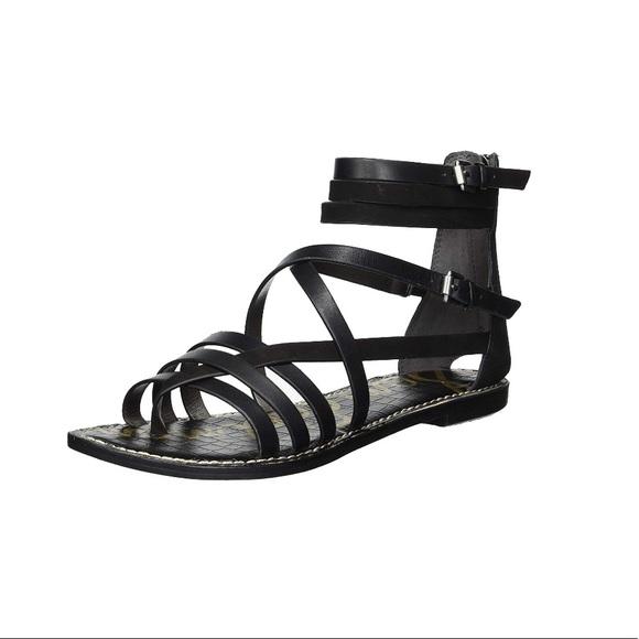 6ab787f9dbb NWT Sam Edelman Ganesa Black Leather Sandal 8.5